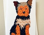 Yorkshire Terrier Dog Animal Greetings Card by Thirteen Rabbits