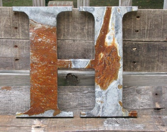 """12"""" Rusted metal letter, wedding, vintage chic, decor"""