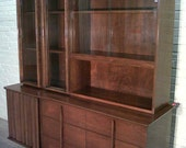 Mid-Century Danish Modern Buffet / China Cabinet / Hutch / Sideboard / Credenza - Beautiful Mad Men / Eames Era Decor