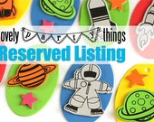RESERVED: Rockets in Outer Space Craft Kit for Kids / 4 DIY Necklaces / Party Craft / Favors / Play Date Activity