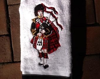 Bagpiper Hand Towel
