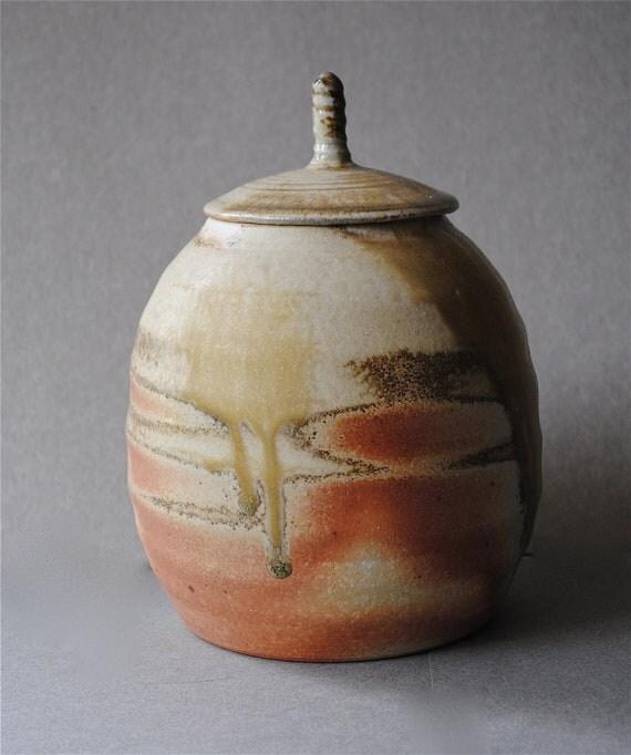 Wood Fired Covered Jar