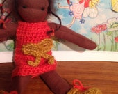 Waldorf doll, 7 inch, ready to go