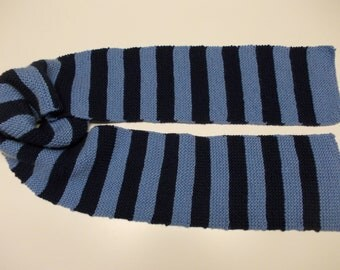 Amy Pond Inspired Blue Striped Scarf