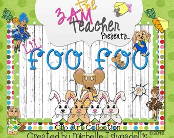 Lil' (Bunny) Foo Foo Themed Clip Art Collection