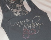 Later's Baby Fifty Shades Lace Back Tank Top