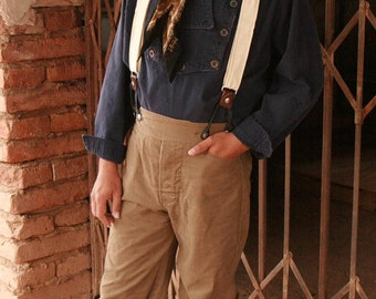 Cowboy Pants Victorian Style Old West Trousers Mens Jeans
