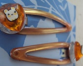 Cute Hamster Barrettes / Hair Clips