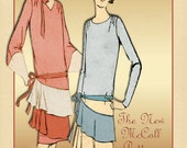 Vintage 1920s Dress Pattern The New McCall Pattern 4830 Flapper Straightline Chemise Dress Size 18 Unused Pattern
