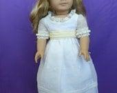 Regency White Organza Dress for American Girl Doll