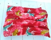Thermal Therapy Rice Bag in Red Asian Inspired Koi Motif