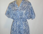 Maternity Nursing Kaftan-Blue Lagoon Short Gown