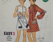 Vintage 1960's Butterick 5849 UNCUT Easy 3 Pattern for Misses' One-Piece Dress in Size 10