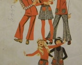 """Vintage 1971 Simplicity 9590 """"Jiffy"""" Pattern for a Girls' Tunic, Skirt, and Pants in Sizes 10"""