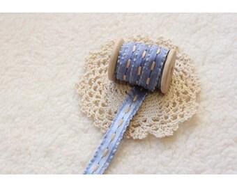 12mm Broad Stitch Blue Ribbon(swp0191)