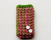 Little Roses knitted iPhone/ mobile phone case