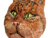 "Made to Order-""Your Cat""-Paper Mache-Art-Mask"