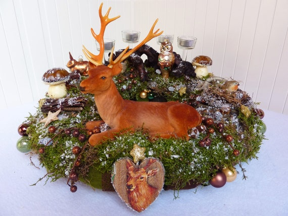 Hnliche artikel wie adventskranz winterzauber wald for Adventskranz bestellen
