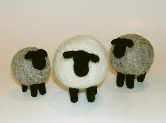 needle felted sheep instructions