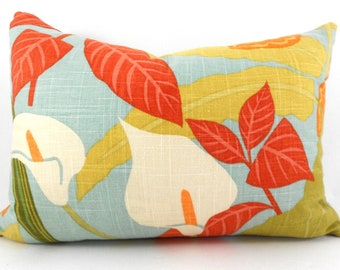 Lumbar Pillow Cover ANY SIZE Decorative Pillow Cover Cushion Cover Robert Allen Rowlily Palm