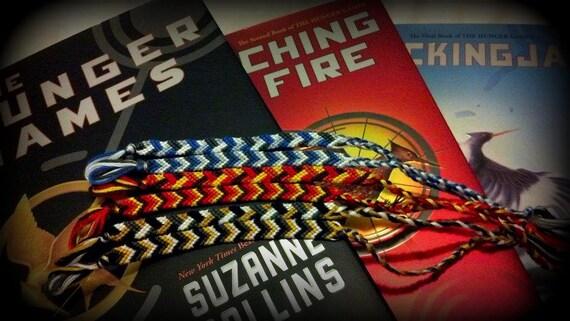 Hunger Games Inspired Friendship Bracelets Set of 3- FREE SHIPPING