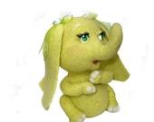 Needle Felted Toy- Citric elephant-Felt Toys-Little Veronica-Rusteam-Soft Sculpture, OOAK