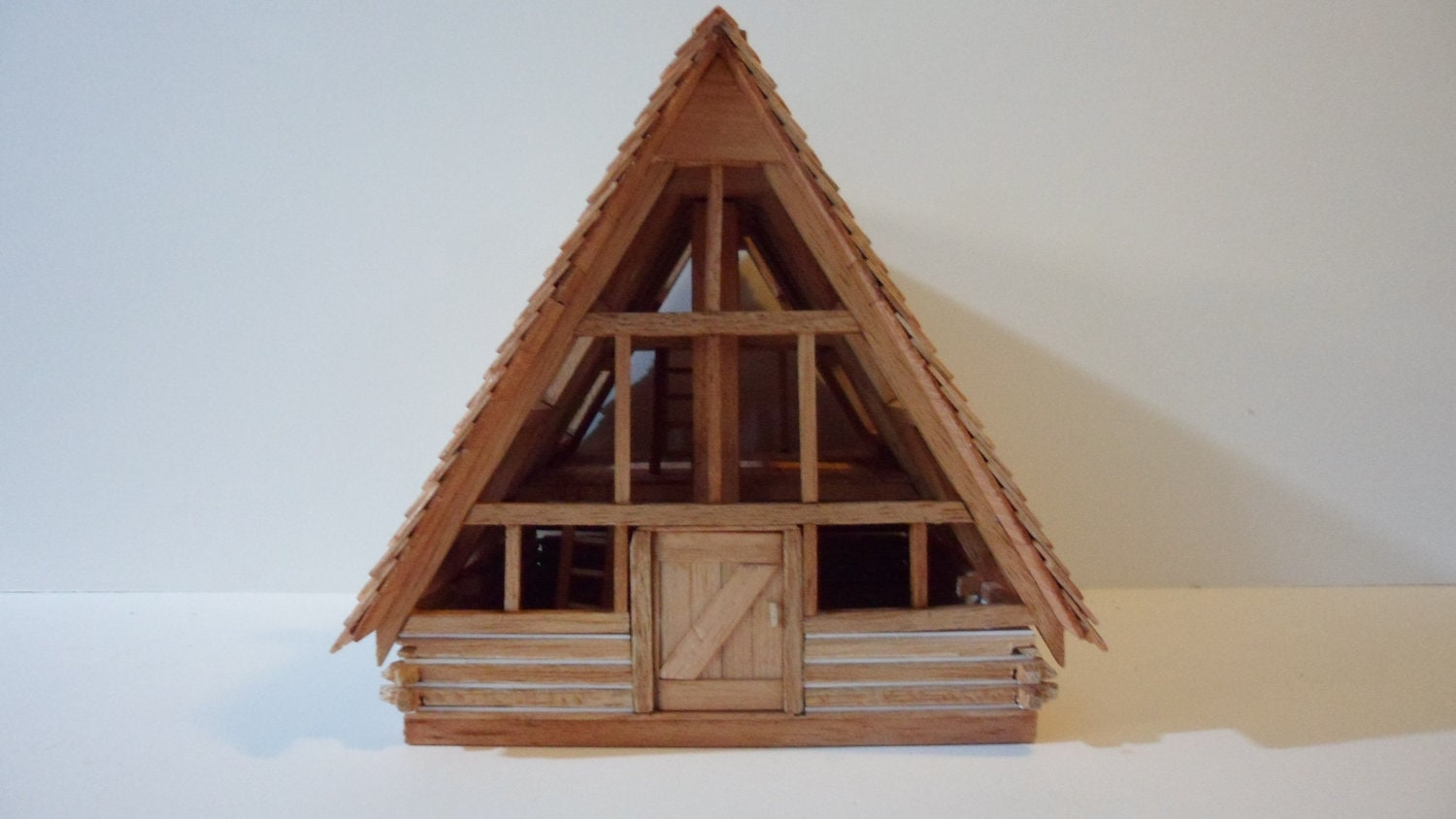 A frame log cabin 3 window for A frame log homes