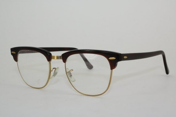 Items similar to Vintage Ray-Ban Clubmaster Glasses ...