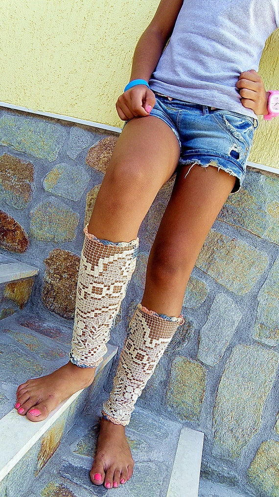 Custom order for Melissa James -Vintage 1930's wedding shoes - laced up summer boots - nude sexy socks - leggings by JenitBoutique