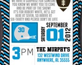 Football or Tailgate Birthday Invitation or Invite.  Surprise Party.  Custom with your Team Colors. Printable.  College, NCAA, NFL