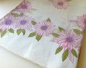 Vintage Pillowcases Purple and Pink Daisies