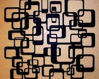 Square Retro Metal Wall Art