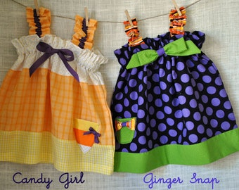 Halloween SALE - 2 Pattern Pack - Candy Girl and Ginger Snap Dresses - Save 20%