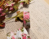Japanese washi masking decor tape -- luxury pink peony