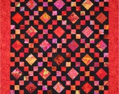Pattern Booklet - Red Carpet and Free Red Stippy quilt.  Two quilts for the price of one.