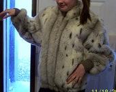 Vintage Cheetah Print  Faux Fur Jacket-by Donnybrook-about a size Large-Beautiful jacket