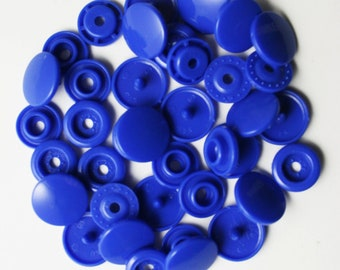100 Sets Royal Blue (B-16) KAM Plastic Resin Snaps For Crafts, Baby, Clothes, Bibs, Diapers and Scarves