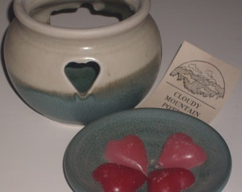 pottery scentpot one of a kind signed