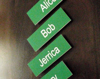 Name Tag with magnet back (text only)