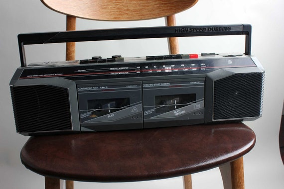 General Electric W4R Boombox Radio Ghetto Blaster Vintage 1980s