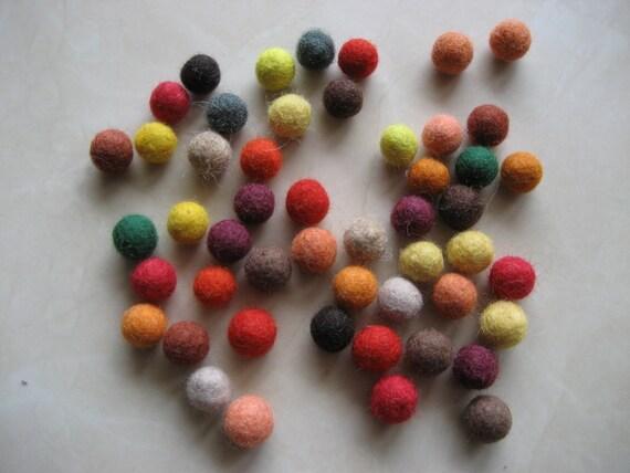 Custom order for Jenny Matlock: 100 pc. of felt fall color balls (1/2 in. size)