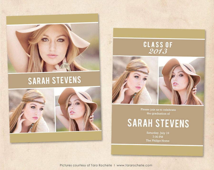 free senior templates for photoshop - graduation announcement template photoshop senior