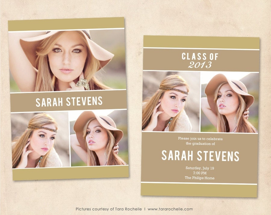 Graduation announcement template photoshop senior for Free senior templates for photoshop