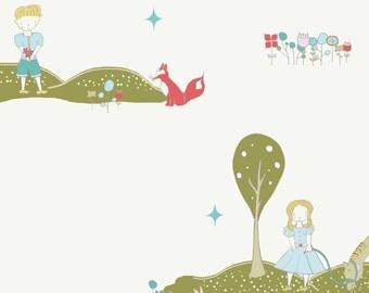 Birch Organic Fabrics Storyboek Two Collection One Yard in Meadow Stroll