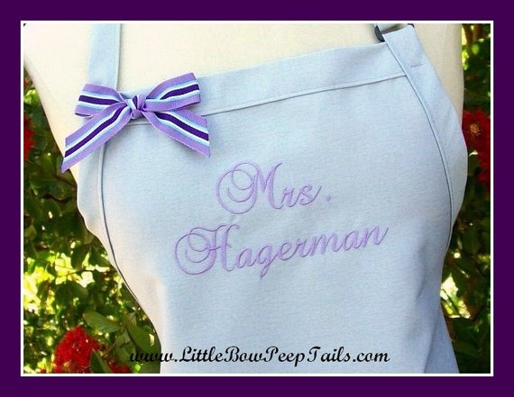 Wedding Shower Gifts For Her: Grey Bridal Dress Mrs. Apron Her New By SomethingYouAprons
