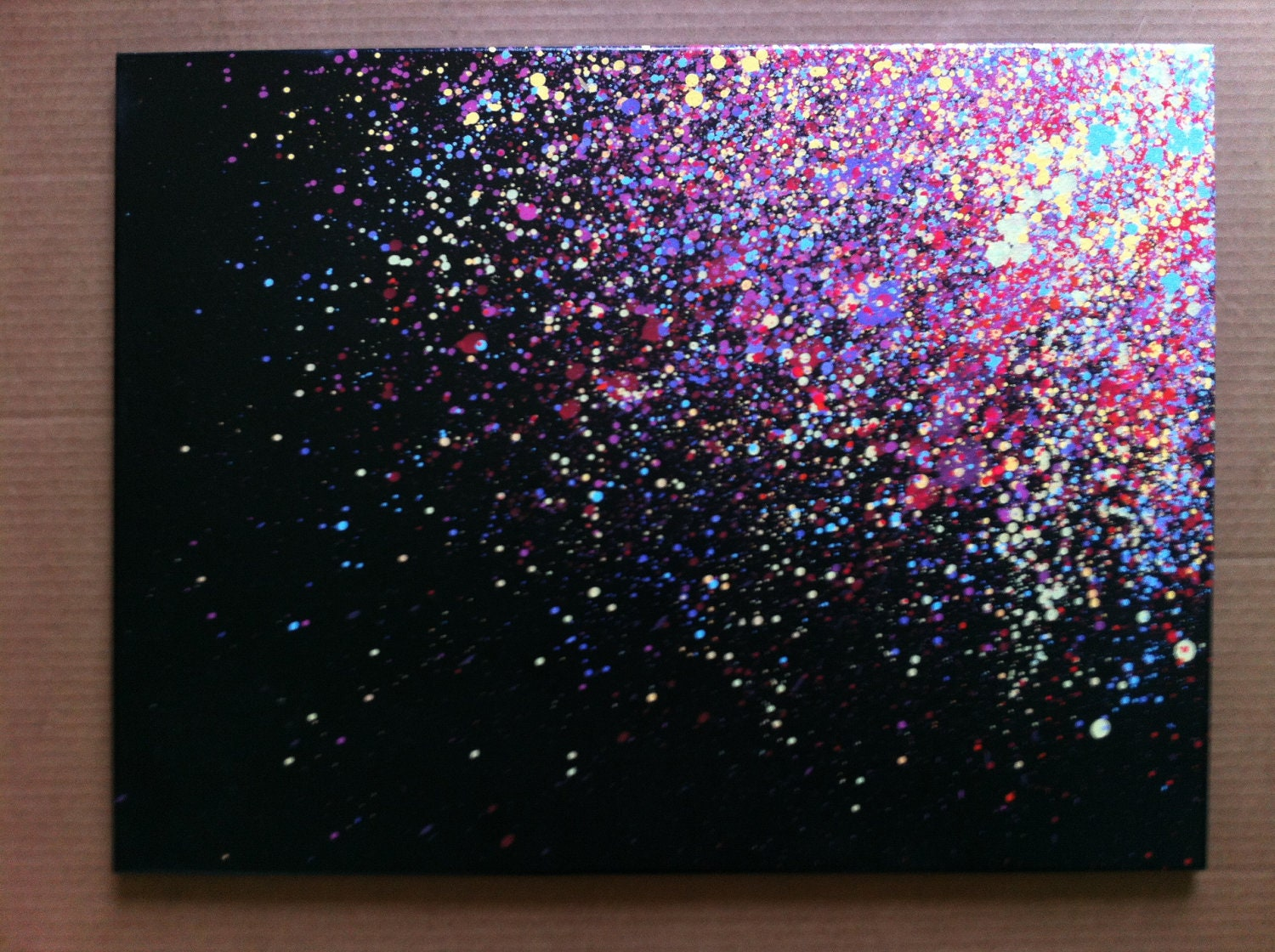 18x24 paint splatter canvas for Artist canvas paint color