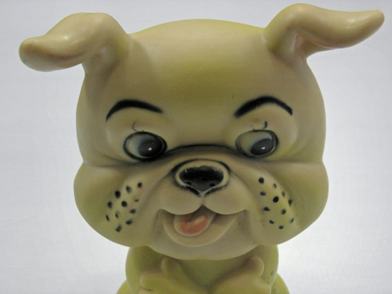 Vintage Childrens Squeaky Toy Bull Dog 1960s