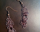 Beautiful Copper Chainmaille Earrings