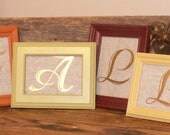 Fall Decor Wood Frames with Gold Letters