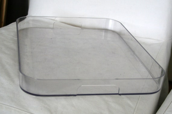 Vintage Lucite Serving Tray 1970s Clear Acrylic